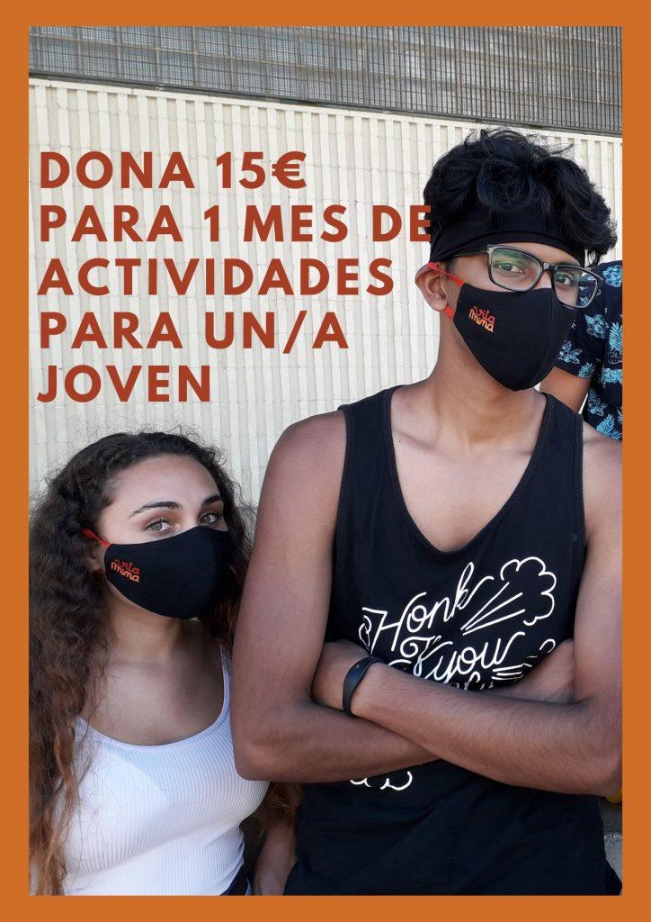 campaña de donación para jóvenes