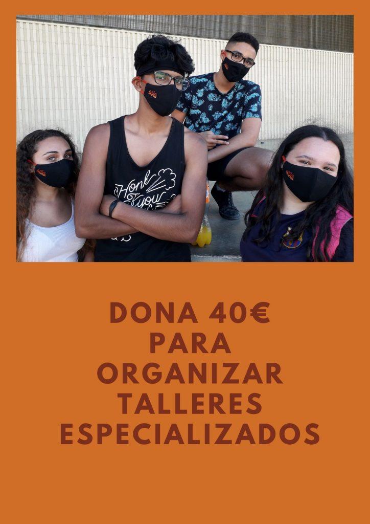 campaña de donación de 40 € para jóvenes vitamina