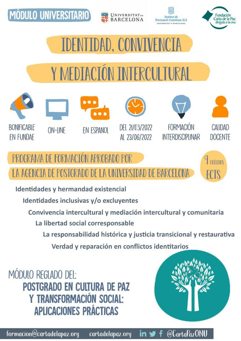 infografia módulo universitario identidad, convivencia y mediación intercultural